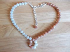Two tone moonstone necklace £10.00