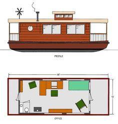 Home Office - House Boat - Boat Plans - Boat Designs | Chesapeake Marine Design