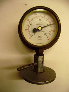 Griffin &George Brass Absolute Pressure Gauge Scientific Instrum experiment (1)
