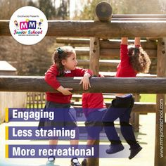 We're well aware of the fact that early childhood is a phase of introducing children to fundamental learning through the use of a medium that is #engaging, #lessstraining and more #recreational in nature hence, have gracefully incepted in our curriculum.  #MMJuniorSchool
