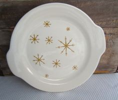 Vintage Star Glow Handled Cake Plate Royal China by corrnucopia, $12.00
