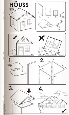 If you thought building a desk or a dresser from IKEA was a challenge, these hysterical, hypothetical instruction sheets from College Humor will really Ikea Pax, Layout Design, Flyer Design, Home Design, Tomie Ohtake, Funny Links, Real Estate Humor, College Humor, Ikea Hacks