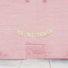 Just a gentle reminder for you as we head into our busy Mondays! ❤ You are enough. Self- Empowerment // Self- Motivation // Self- Acceptance Words Quotes, Wise Words, Me Quotes, Motivational Quotes, Inspirational Quotes, Sayings, Yoga Quotes, Qoutes, Pink Quotes