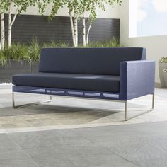 Dune Right Arm Loveseat with Sunbrella ® Cushions - Crate and Barrel