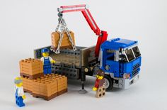 Pritsche mit Kran - New Ideas Lego Tumbler, Lego Plane, Construction Lego, Lego Machines, Lego Fire, Lego Truck, Lego Pictures, Lego Trains, Lego Modular