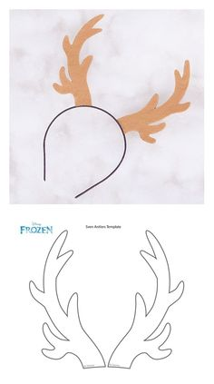 """Your little Frozen fans will love this """"sleigh"""" cool craft inspired by Kristoff's carrot-munching sidekick. Moose Antlers, Moose Art, Frozen Halloween, Fun Crafts, Paper Crafts, Template, Disney Family, Frozen Party, Christmas Projects"""