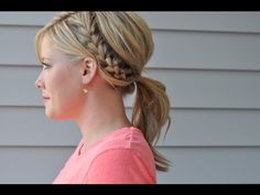 Easy hairstyles that pair well with a natural makeup look for the summer - Half French braid ponytail! Braided Hairstyles Tutorials, Ponytail Hairstyles, Pretty Hairstyles, Hair Tutorials, Hairstyle Ideas, Hairstyle Braid, Chic Hairstyles, Hairstyles 2018, Everyday Hairstyles