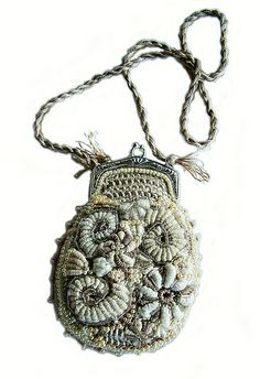 Small evening freeform crochet purse  Renate Kirkpatrick  Ganchillo Libre a4ec2c0b9cb