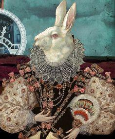 Igor Skaletsky | ... for snob (closeup). Painting and collage art by Igor Skaletsky