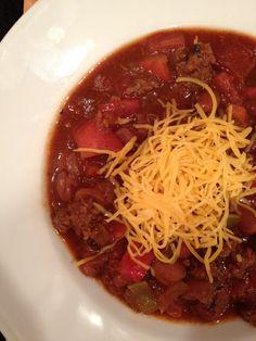Bison 5 alarm chili recipe.