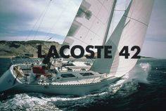 Enjoying a #BlueInfinity on the #Lacoste #L42 #sailing #boat