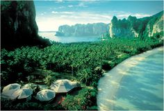 Put the Andaman Coast on your bucket list - exquisitely beautiful part of the world dotted by places like the Rayavadee Resort, THAILAND