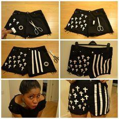 diy customizing short