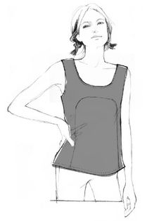 The Polly Top is a free sewing pattern from By Hand London, it is a woven tank top with clean lines and a contrast panel at the front. Sewing Patterns Free, Clothing Patterns, Free Pattern, Free Sewing, Blouse Patterns, Clothing Styles, Make Your Own Clothes, Diy Clothes, By Hand London