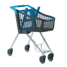 The Tango City plastic shopping trolley by Wanzl: cleverly designed, stylish colours, light material - perfect for small and medium-sized shops.