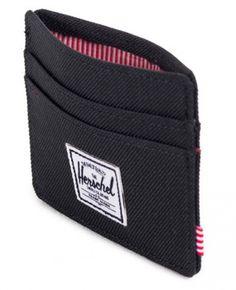 d0a32413a51 Herschel Charlie Card Holder Wallet 600D Poly Black 10045-00001-OS