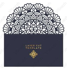 Laser cut Invitation Template with pocket. Wedding invitation template, Gift, Letter, etc. EPS SVG D Cricut Wedding Invitations, Laser Cut Invitation, Wedding Menu Cards, Wedding Invitation Templates, Cajas Silhouette Cameo, Black And Silver Wallpaper, Cricut Tutorials, Pop Up Cards, Laser Cutting