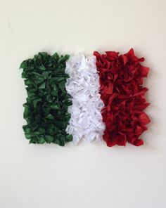 Create a Tissue Paper Mexican Flag Activity