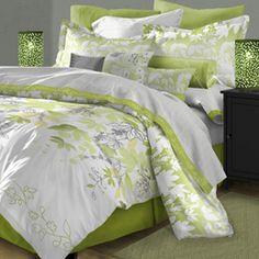 Simple Beauty http://www.home-decorating-co.com/karin-maki-lime-green-zebra-bedding.html