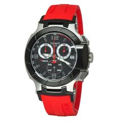 The Latest: Tissot Men's T-Race Red Strap Chronograph Watch – Venom Sport Watches, Cool Watches, Watches For Men, Wrist Watches, Men's Watches, Bulova, Tissot T Race, Online Watch Store, Watch Model