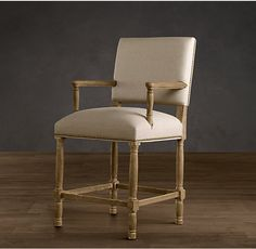 """Empire Parsons Upholstered Counter Stool, seat height: 25"""" Restoration Hardware"""