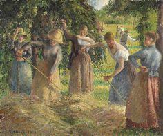 Camille Pissarro - Hay Harvest at Éragny (1901)