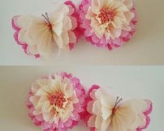 1 wall flower 1 butterfly girls birthday party decorations tissue paper wall butterflys nursery bedroom wedding sweet 16 baby shower - Decoration For Home Butterfly Bedroom, Butterfly Baby Shower, Butterfly Party, Butterfly Wall, Flower Wall, Butterfly Decorations, Shower Baby, Paper Butterflies, Tissue Paper Flowers