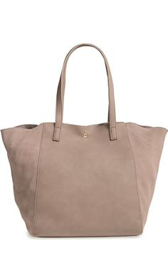 Sole Society Norah Slouchy Faux Leather & Suede Tote available at #Nordstrom