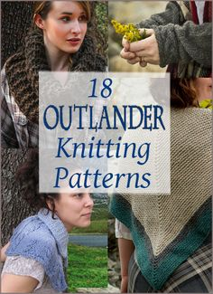 Are you watching???!!!Outlander Inspired Knitting Patterns - 18 designs inspired by the beloved books by Diana Gabaldon and the STARZ tv series | More Free Knitting Patterns at www.intheloopknitting.com