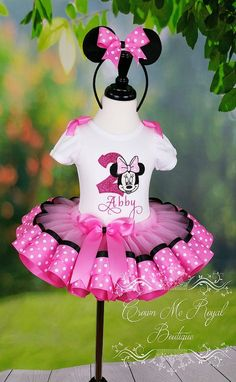 Minnie Mouse Dress, Minnie Mouse Birthday Outfit, Minnie Mouse Tutu Dress…