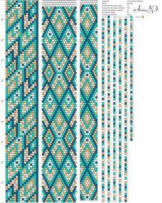 Crochet Bracelet Pattern, Loom Bracelet Patterns, Crochet Beaded Bracelets, Bead Crochet Patterns, Seed Bead Patterns, Bead Crochet Rope, Jewelry Patterns, Beading Patterns, Beaded Crochet