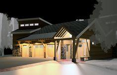 Turnagain Bluff Night View - William Merriman Architects