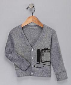 Take a look at this Black & Gray Amp Cardigan - Toddler & Boys  by Grubbie Style on #zulily today!