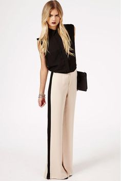 Image 3 of ASOS Wide Leg Trouser with Side Stripe | WANTS ...