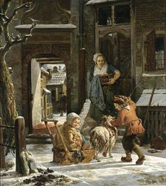 A Winter Scene by Abraham van Strij (Netherlands, 1753 - 1826)
