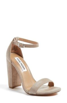 Free shipping and returns on Steve Madden 'Carrson' Sandal (Women) at Nordstrom.com. Modern and minimalist, an essential ankle-strap sandal set on a chunky heel serves as a versatile go-to style.
