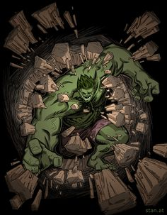 #Hulk #Fan #Art. (Hulk Crash!) By: Christof Stanits. (THE * 5 * STÅR * ÅWARD * OF: * AW YEAH, IT'S MAJOR ÅWESOMENESS!!!™) ÅÅÅ+
