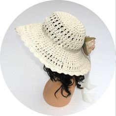 Vintage 70s Crochet Sunhat / 70s Hat / by BreesVintageRevivals, $34.00