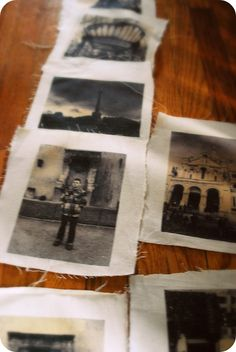 Photo Bunting ~ transferring photos to fabric.