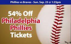 54% off Philadelphia Phillies Tickets vs. Atlanta Braves Sat. Sep. 22 @ 4:05pm