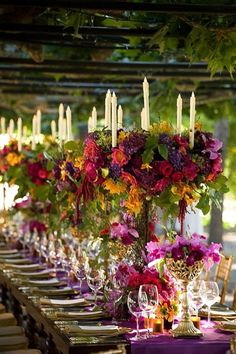 Purple Wedding Flowers Wedding Ideas By Pantone Colour: Ultra Violet - Flowers, cakes and Purple Wedding, Wedding Colors, Wedding Flowers, Dream Wedding, Wedding Reception Decorations, Wedding Ideas, Wedding Trends, Fall Flowers, Color Of The Year