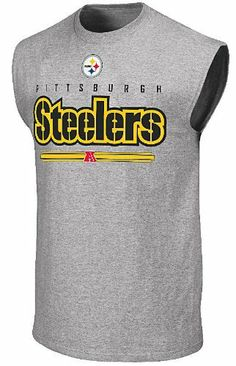 Pittsburgh Steelers Mens Sleeveless Shirt by Majestic-Critical Victory VI by Majestic. $24.95. Screened Steelers and AFC Graphics. Athletic-Fit Body. Made from 90/10 cotton/poly jersey material. Officially Licensed NFL Product. The Pittsburgh Steelers Sleeveless Shirt is from the Critical Victory series that has been a best-seller to NFL fans for years. With a loose-fit body that is made from 90/10 cotton/poly jersey material this NFL sleeveless shirt by Majestic comes in gre...