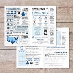 Funny Infographic Wedding Program, Navy Wedding Program, Unique Wedding Program, Word Search, Wedding Advice Card, Bi-Fold Wedding Program Wedding Programs Wording, Wedding Advice Cards, Unique Wedding Programs, Wedding Notes, Wedding Things, Dream Wedding, Wedding Ideas, Wedding Trivia, Wedding Humor