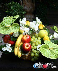 Composizione di Fiori e Frutta maxi