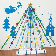 レクリエのインスタグラムで公開している、クリスマスを彩る季節の制作のアイディアをまとめてご紹介します。 → レクリエのインスタグラムはこちら毛糸のボンボンツリー『レクリエ 2016 11・12月号』掲載 毛糸のボンボンツリー。毛糸のボンボンをリボンに結びつけて、立体感のあるクリスマスツリーの壁面飾りを作りませんか? #立体化させると楽しさ倍増 #クリスマスにはまだ早いけど #12月の壁画 #デイサービス #介護 #2016_11_12月号 レクリエさん(@recrea.… Christmas Door, Christmas Crafts, Christmas Decorations, Diy And Crafts, Arts And Crafts, Pom Pom Crafts, Collaborative Art, Xmas Party, Preschool Crafts