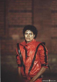 Mens Michael jackson thriller leather jacket!