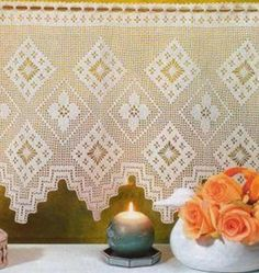 Crocheted Curtain  Serenity by LaisviakCrochet on Etsy, $62.00