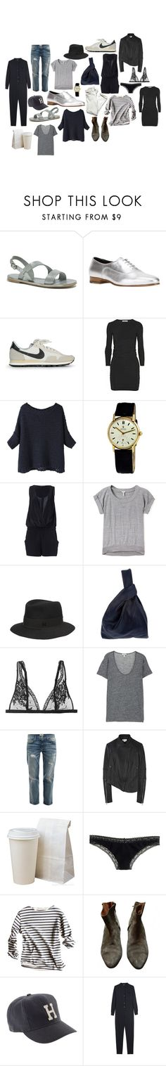"""lately."" by coffeestainedcashmere ❤ liked on Polyvore featuring Madewell, Yves Saint Laurent, NIKE, T By Alexander Wang, BLACK CRANE, Rolex, Zara, Splendid, Maison Michel and Jil Sander"