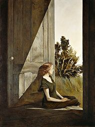 Andrew Wyeth.  He is my all time favorite artist.  Calm and peaceful yet detailed and stirring.  So great!
