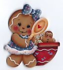 HP GINGERBREAD Girl with Bowl & Spoon FRIDGE MAGNET